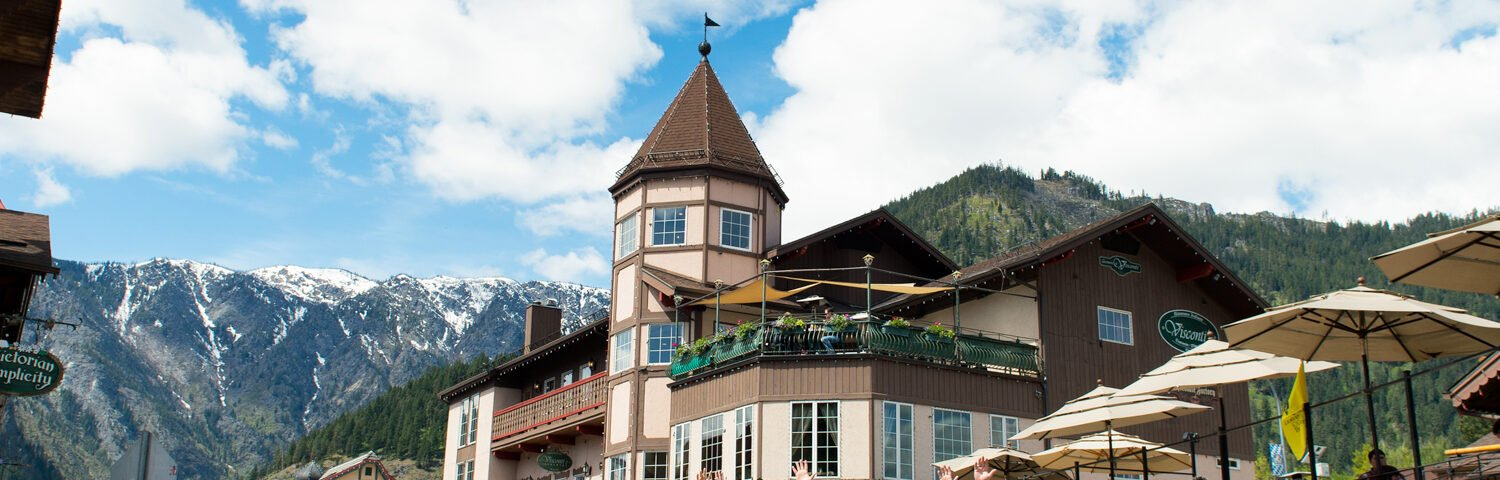 Mountain view from downtown Leavenworth